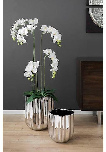 Fink Übertopf »TULIP, silberfarben«, (1 St.), Pflanzübertopf, Blumenübertopf,... kaufen