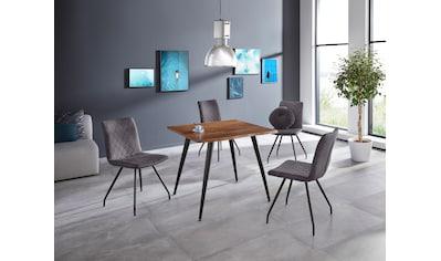 HELA Baumkantentisch »Jule III«, Tischplatte quadratisch 90x90 cm kaufen