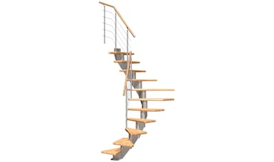 DOLLE Mittelholmtreppe »Frankfurt Buche 65«, bis 279 cm, Edelstahlgeländer, versch. Ausführungen kaufen