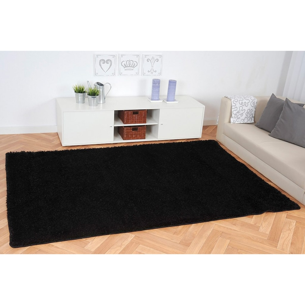 Living Line Hochflor-Teppich »Loredo«, rechteckig, 30 mm Höhe, Shaggy Teppich