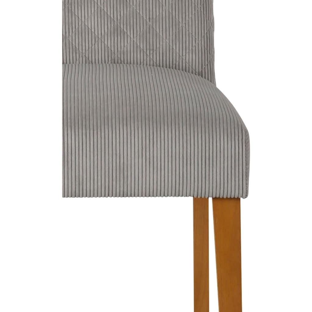 Home affaire Esszimmerstuhl »Rysum«, 2er-Set, mit gepolsteter Sitzfläche, und gesteppter Rückenlehne