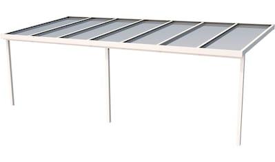 GUTTA Terrassendach »Premium«, BxT: 712x306 cm, Dach Polycarbonat gestreift weiß kaufen