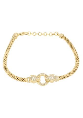 Firetti Armband »Tigerköpfe und Ring, vergoldet, Glanzoptik«, mit Zirkonia kaufen