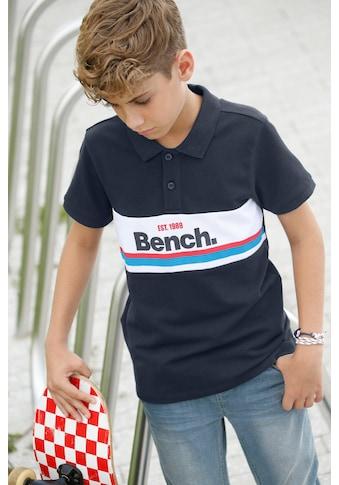 Bench. Poloshirt, mit Streifen und Druck kaufen