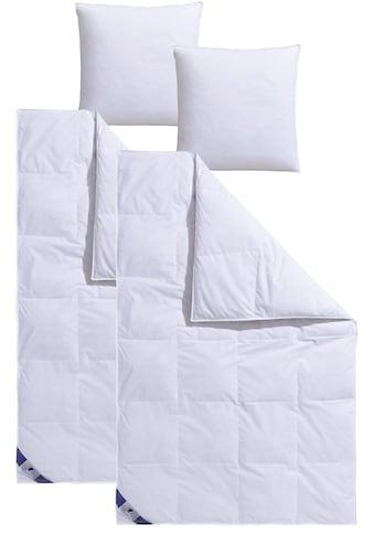 Traumecht Federbettdecke + Kopfkissen »Traumecht«, (Spar-Set), mit 8 cm hohen Innen- &... kaufen