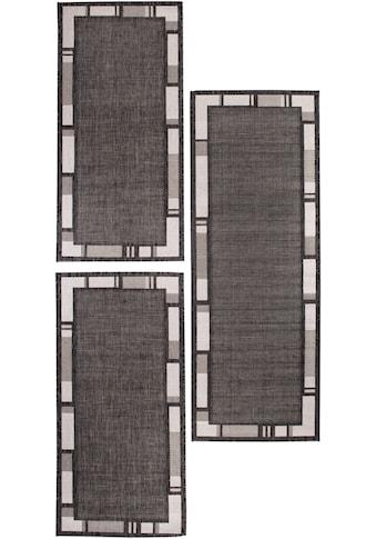Andiamo Bettumrandung »New Orleans 2«, Bettvorleger, Läufer-Set für das Schlafzimmer, Flachgewebe, gewebt, mit Bordüre, In- und Outdoor geeignet kaufen