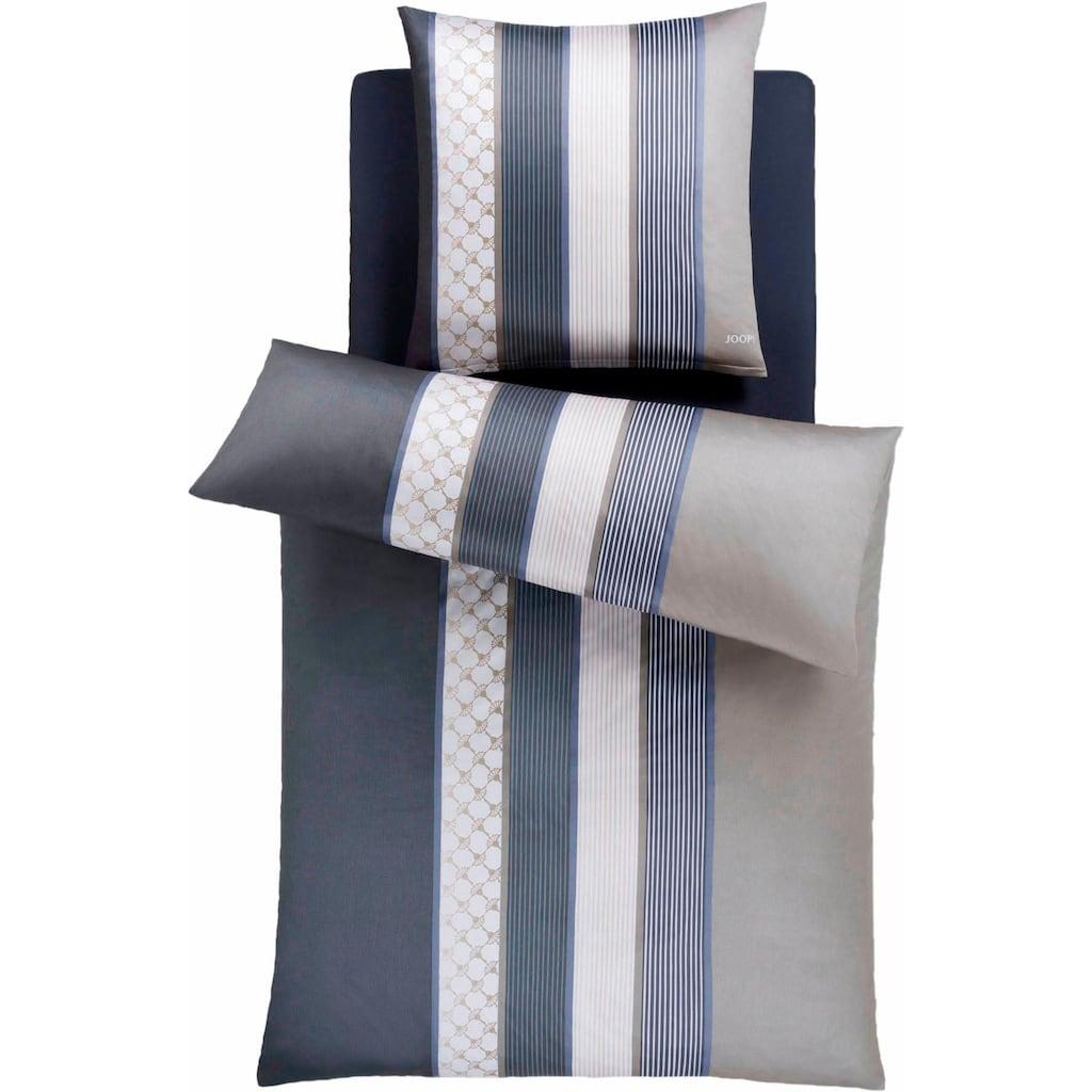 Joop! Bettwäsche »Cornflower Stripes«, mit Kornblumen-Muster & Streifen
