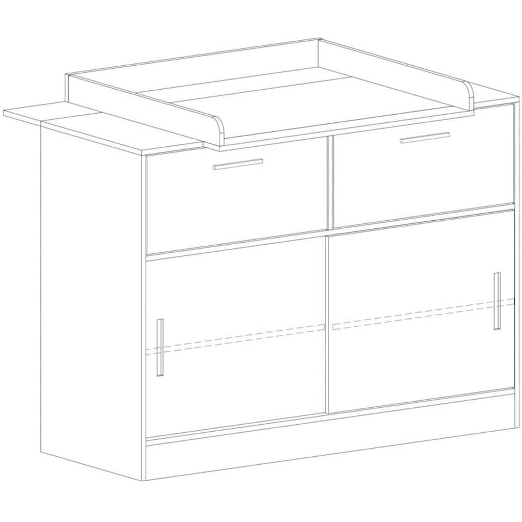 arthur berndt Babyzimmer-Komplettset »Justus«, (Set, 3 St.), Made in Germany; mit Kinderbett, Schrank und Wickelkommode