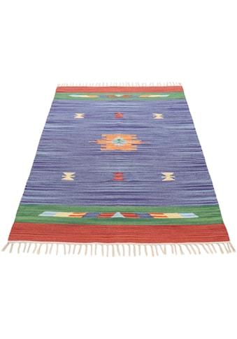 Teppich, »Kelim Amal«, carpetfine, rechteckig, Höhe 5 mm, handgewebt kaufen