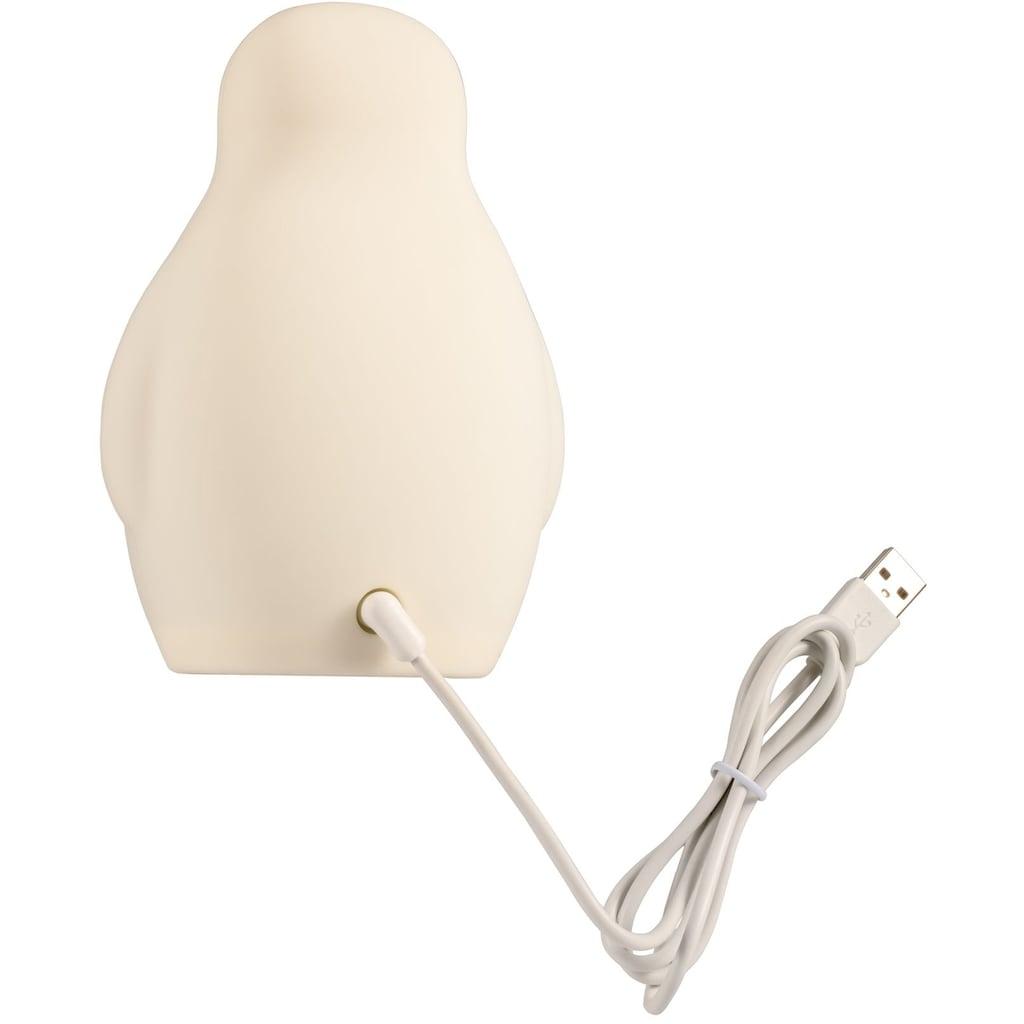 Pauleen Nachttischlampe »Good Morning Penguin«, 1 St., Warmweiß, Nachtlicht 0,25W USB beige 5V Silikon