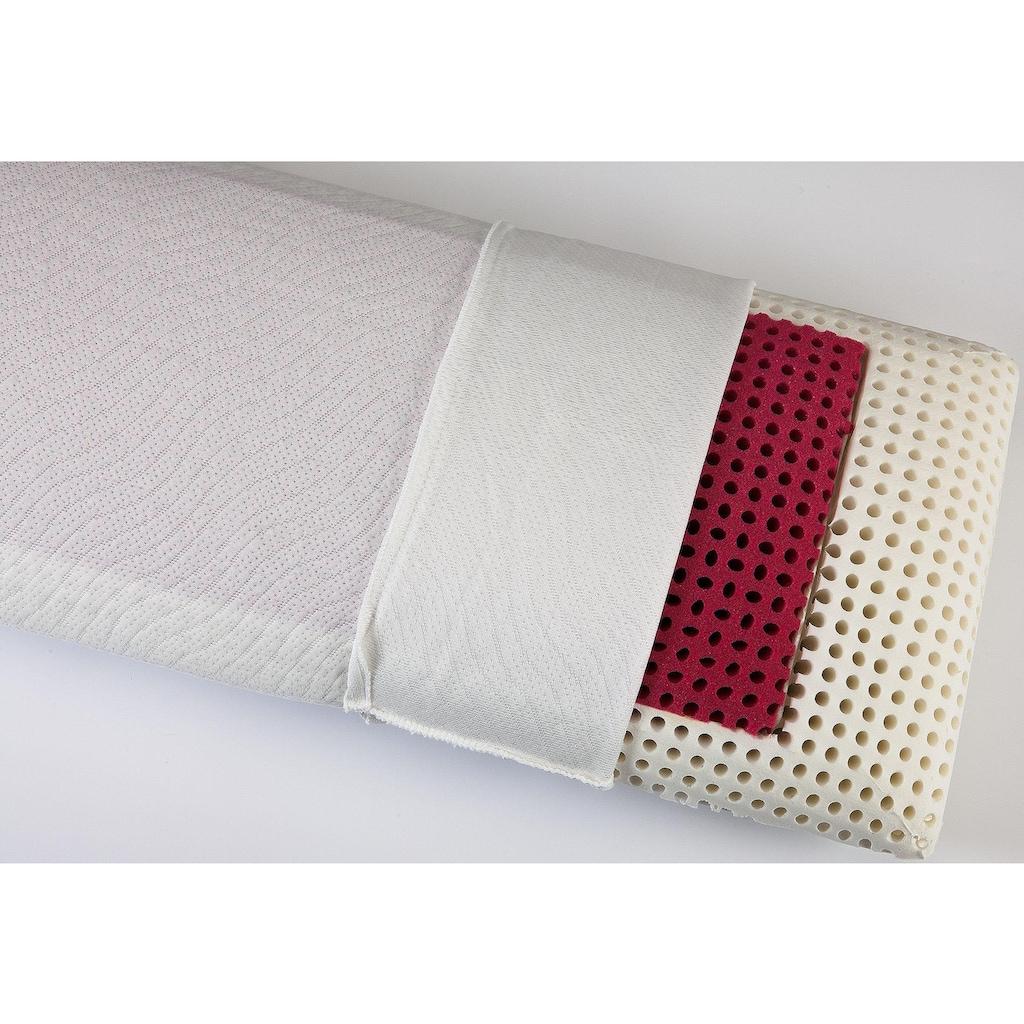"""DI QUATTRO Nackenstützkissen »""""Memory Dream"""" Red Style Airline«, Füllung: Viscoschaum mit farbiger Viscoeinlage und Luftkanälen, Bezug: 100% Polyester, (1 St.)"""