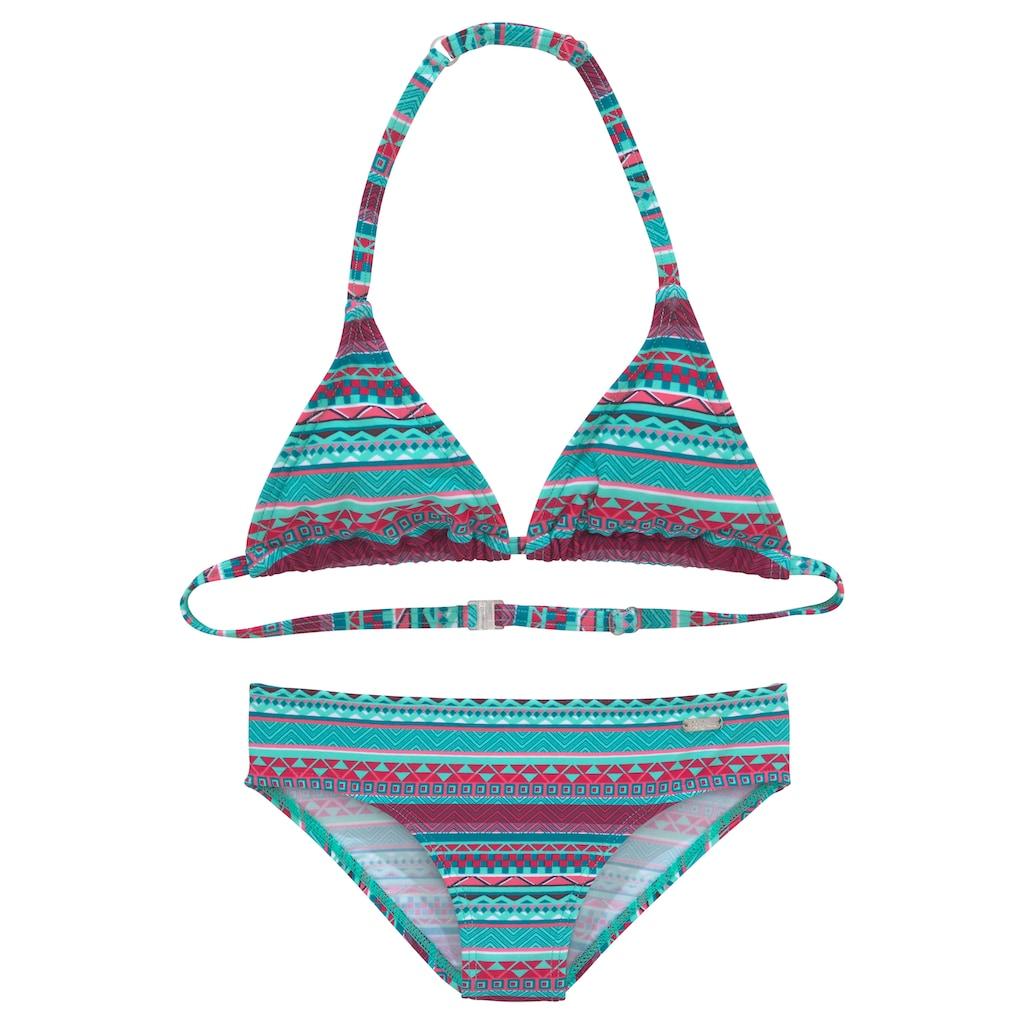 Buffalo Triangel-Bikini, mit Ethno-Druck