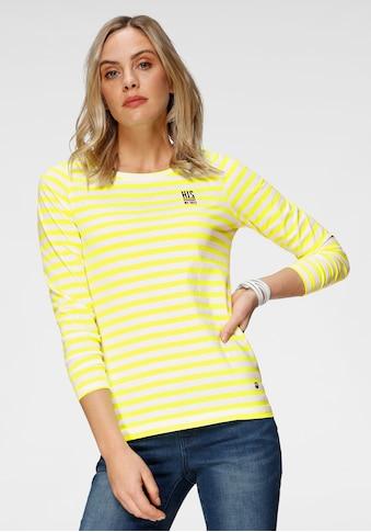 H.I.S Langarmshirt, in Neon gestreift von H.I.S kaufen