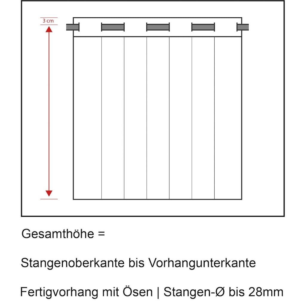 Neutex for you! Vorhang nach Maß »Kiss«, Ösenschal mit Metallösen, Breite 142 cm
