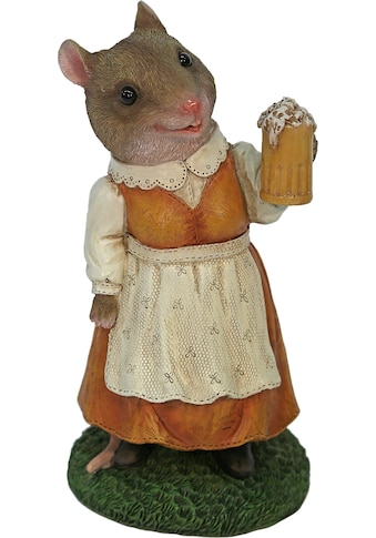 Casa Collection by Jänig Tierfigur »Frau Maus im Kleid mit Bierglas« kaufen