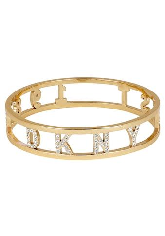 DKNY Armreif »DKNY 1989 Bangle BR (GL) - M/L, 5547956«, mit Swarovski® Kristallen kaufen