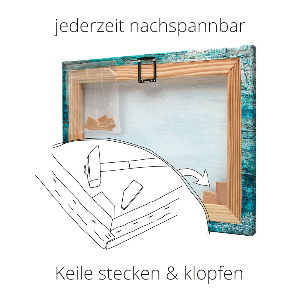 Artland Wandbild »Wäsche im Garten in Kandern«, Garten, (1 St.), in vielen Größen & Produktarten -Leinwandbild, Poster, Wandaufkleber / Wandtattoo auch für Badezimmer geeignet