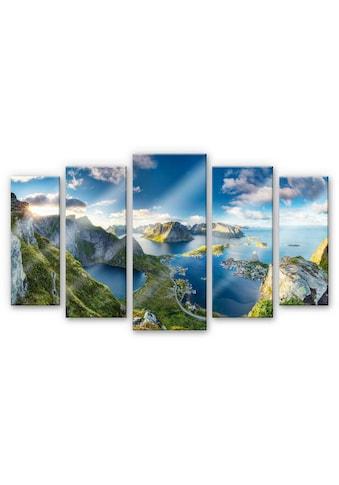Wall-Art Mehrteilige Bilder »Norwegen Panorama (5 tlg.)«, (Set, 5 St.) kaufen