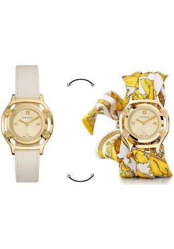 Versace Schweizer Uhr »Medusa Frame, VEVF00620« (Set, 2 tlg., Uhr mit Lederband und Seidentuch) kaufen