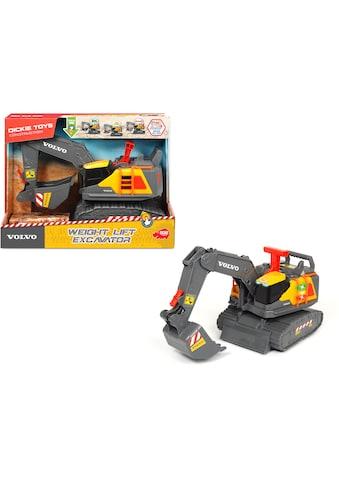 Dickie Toys Spielzeug-Bagger »Volvo Weight Lift Excavator«, mit Licht und Sound kaufen