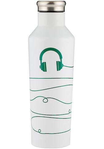 Typhoon Trinkflasche »PURE, Cable«, (1 tlg.), Edelstahl, wechselt die Farbe, 800 ml kaufen