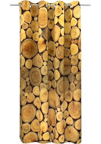 Vorhang, »Jahresringe Natur«, VHG, Ösen 1 Stück kaufen