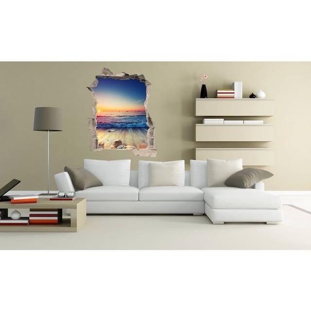 Conni Oberkircher´s Wandsticker »Sunset Waves«