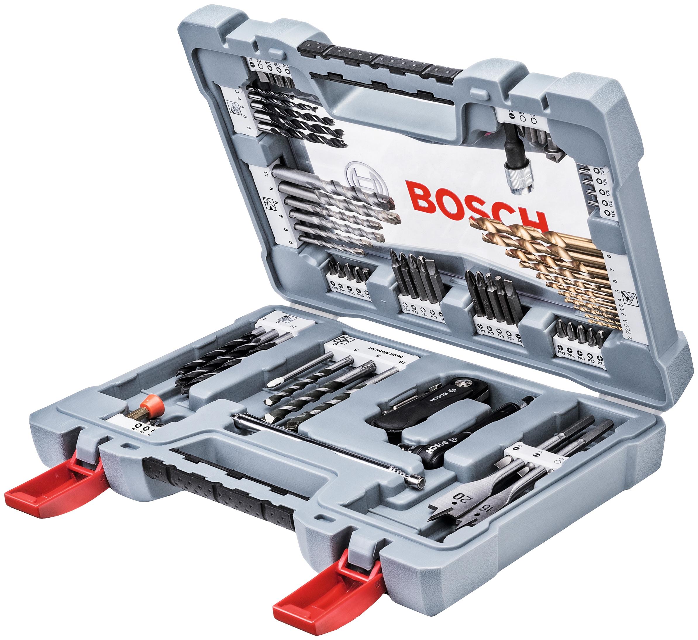 BOSCH Bohrer- und Bit-Set »Premium«, 76-tlg.   Baumarkt > Werkzeug > Werkzeug-Sets   Grau   Bosch