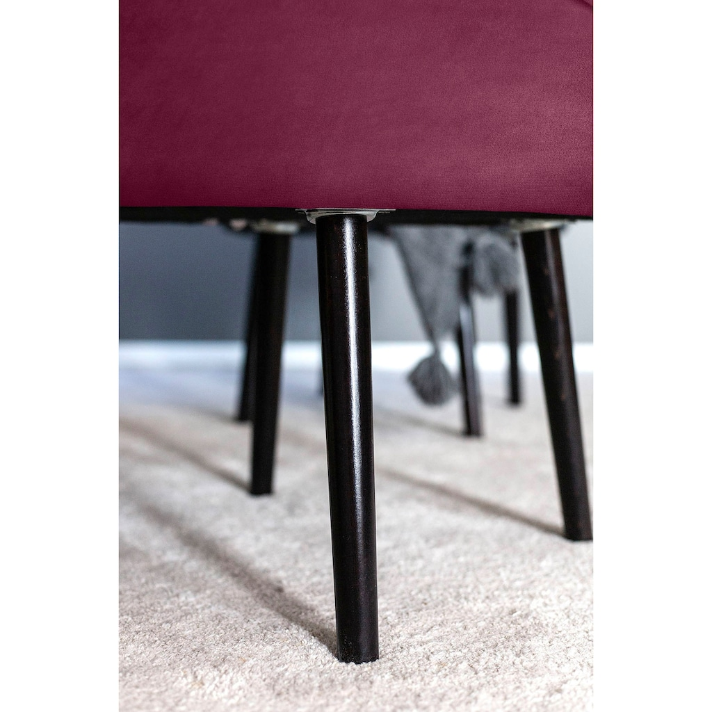 Fink Polsterhocker »ELLIS«, mit runder Sitzfläche