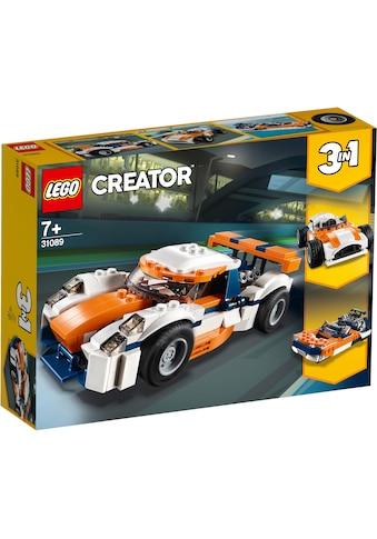 LEGO® Konstruktionsspielsteine »Rennwagen (31089), LEGO® Creator 3in1«, (221 St.),... kaufen
