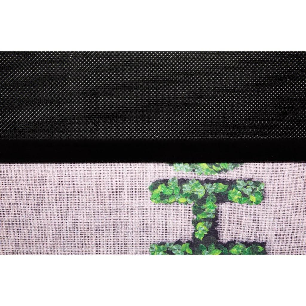 Andiamo Fußmatte »Home«, rechteckig, 5 mm Höhe, Schmutzfangmatte, mit Spruch, In- und Outdoor geeignet