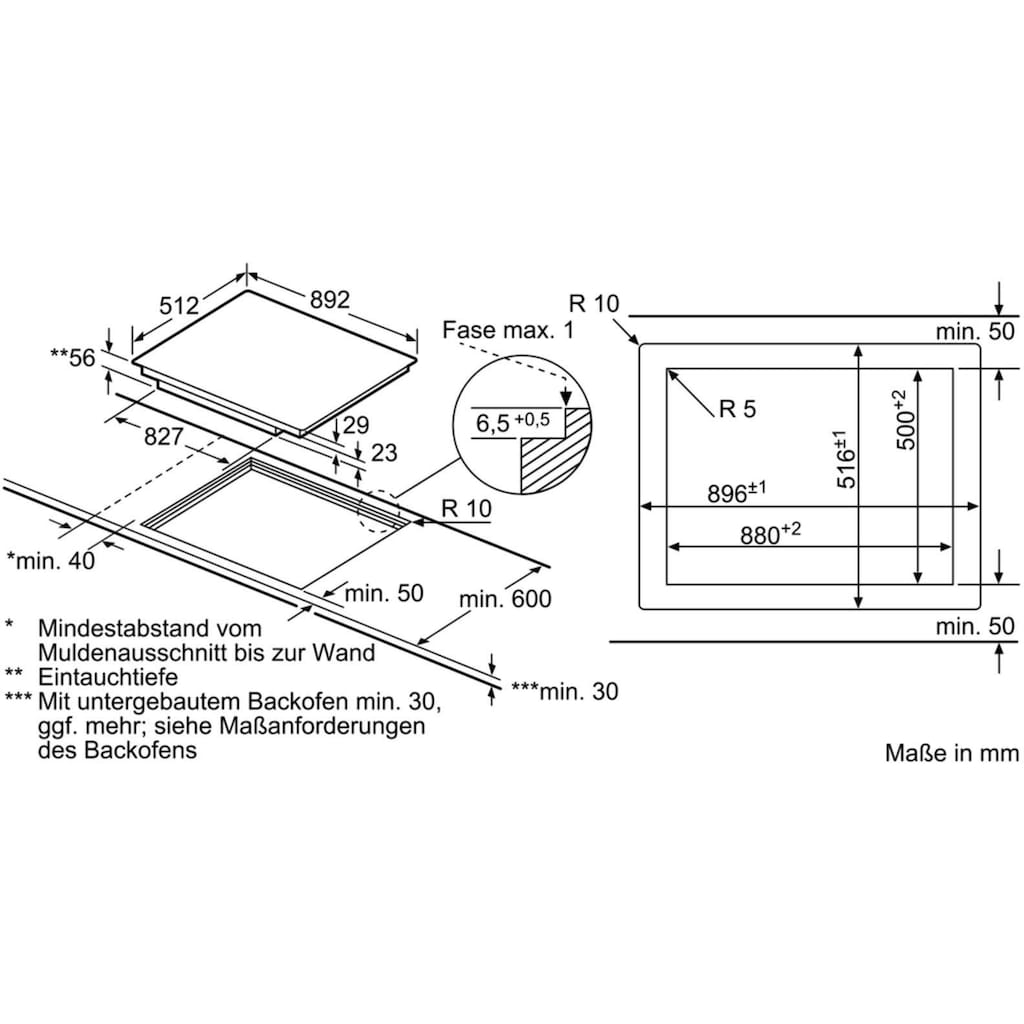 SIEMENS Flex-Induktions-Kochfeld von SCHOTT CERAN® »EX901LXC1E«, EX901LXC1E