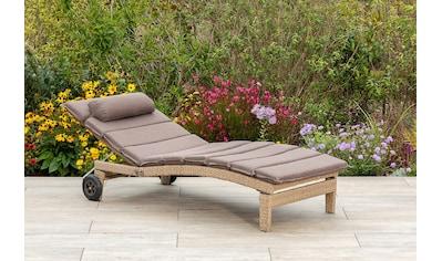 MERXX Gartenliege »Andalusia«, zerlegbar, mit Auflagen, Aluminium kaufen