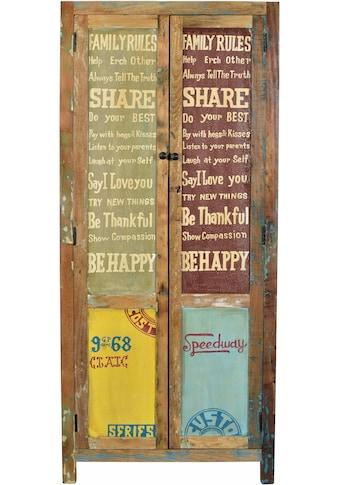 SIT Stauraumschrank »Speedway«, aus recyceltem Altholz, Breite 80 cm, Shabby Chic,... kaufen