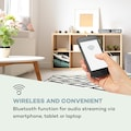 Auna HiFi-Receiver Internet/DAB+/ FM Radio CD-Player WiFi silber