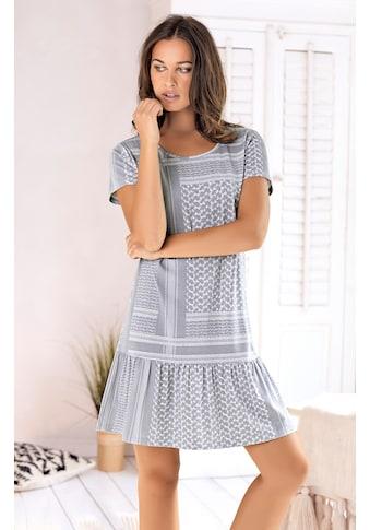 s.Oliver Nachthemd, mit Pashmina-Druckmuster kaufen