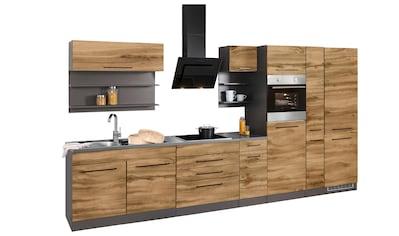 HELD MÖBEL Küchenzeile »Tulsa«, ohne E-Geräte, Breite 380 cm, schwarze Metallgriffe,... kaufen