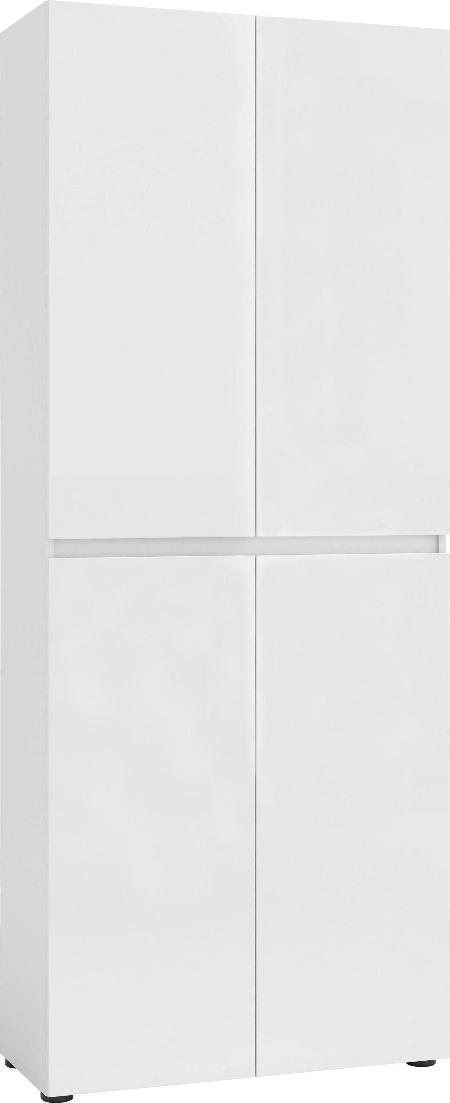KITALY Schuhschrank »Mister«, Breite 80 cm, Höhe 200 cm, 4 Türen günstig online kaufen