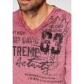 CAMP DAVID V-Ausschnitt-Pullover, meliert