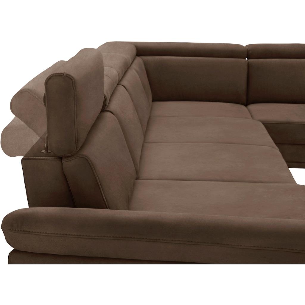 sit&more Wohnlandschaft, inklusive Sitztiefenverstellung, wahlweise mit Kopf- und Armteilverstellung