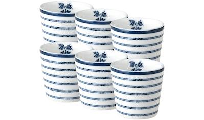LAURA ASHLEY BLUEPRINT COLLECTABLES Eierbecher »Candy Stripe«, (Set, 6 tlg.), Porzellan kaufen