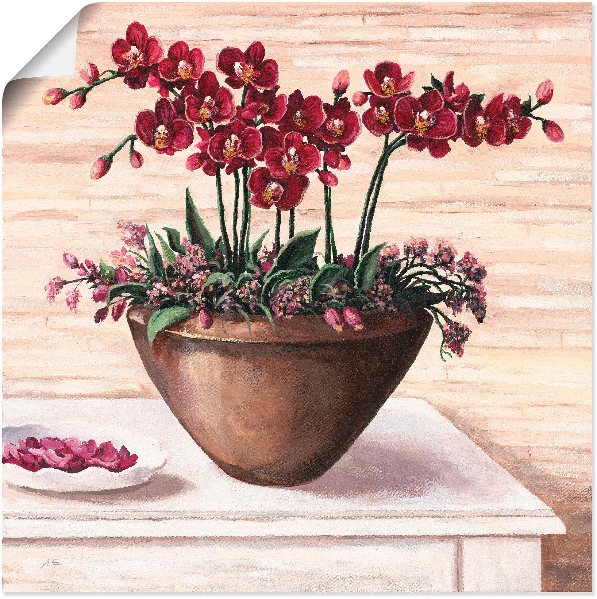 Artland Wandbild »Orchideen in Bordeaux«, Blumen, 20 St., in ...
