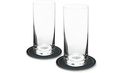 Contento Longdrinkglas, (Set, 4 tlg., 2 Longdrinkgläser und 2 Untersetzer), Kompass,... kaufen