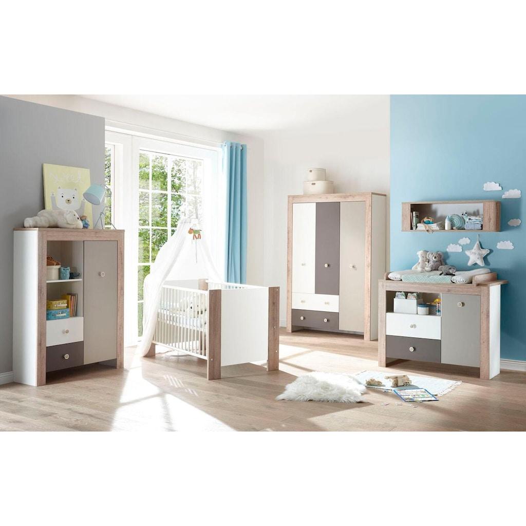 Babyzimmer-Komplettset »Madrid«, (Set, 3 tlg.), Bett + Wickelkommode + 3 trg. Kleiderschrank