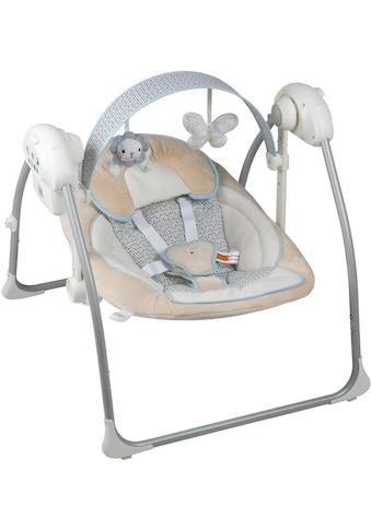 BabyGo Babywippe »Dandly, beige«, bis 9 kg, elektrisch, mit Sound kaufen