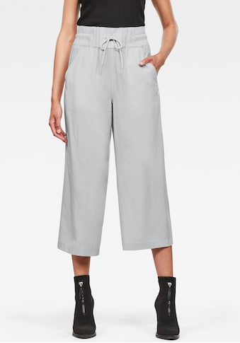 G-Star RAW Culotte »High Waist Culotte Hose«, mit breiten elastischen Bund und Kordelzug kaufen