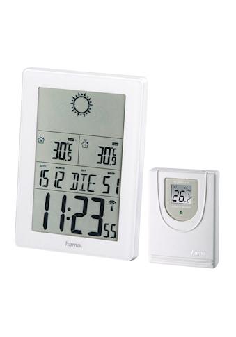 Hama Funk Wetterstation Funkuhr Wecker Barometer Vorhersage »Außensensor, Reichweite 50 m« kaufen