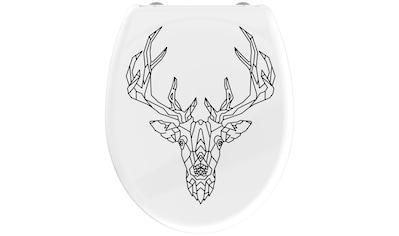 welltime WC-Sitz »Geometric Deer«, hochwertiger abnehmbarer Premium-Toilettendeckel... kaufen