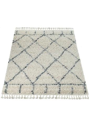 Hochflor - Teppich, »Nador 755«, Paco Home, rechteckig, Höhe 55 mm, maschinell gewebt kaufen