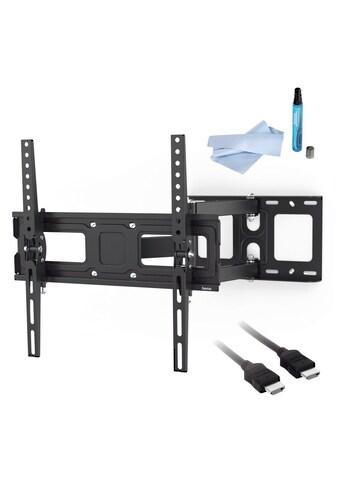 Hama TV Set, Wandhalter schwenkbar, HDMI - Kabel, 3,0 m, Reiniger »FULLMOTION, bis 165cm, 65 Zoll« kaufen